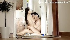 Amateur korean suck his neighbors cock