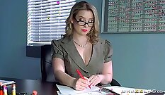 Attractive cutie is pleased with masturbation and then drilling the hole of sex