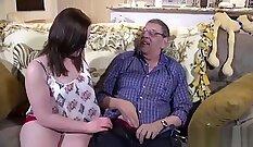 Carmen Addison ass fucked by grandpas