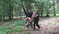Busty granny initiated by duddys sonjo