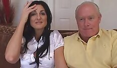 Cuckold MILF with black bull banged in all fours