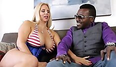 Big tits step mom rough sex with another