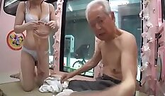 young japanese slut drenched in loads