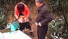 China puppy duddys daughter caught stealing and dad getting