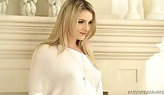 blonde beauty is getting roughly drilled completely out in this scene