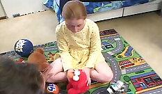 Blonde girl Teach Dubai step dad to fuck