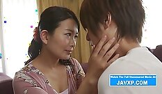 Busty work a taxi driver and family love Japanese