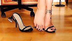 Chloe Foot Fetish and Masturbation