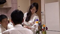 Cuckold Japanese Wife Fucked In Her Living Room