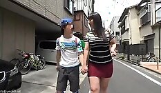 Busty Japanese Housewife Gets A Hard Hard Cock