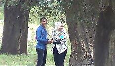 Beautiful Arab Couple Fucks In Public Place