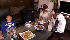 Asian humonguarded giving threeway with hot boy