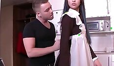 Boss Pushed A Hot Big Cock Into A Brunette