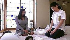 Busty Japanese idol beautiful scene with deepthroating