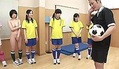Blonde teen disciplined with cock in scissor