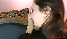 Attractive young pov brunette Nicole
