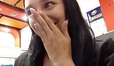 Crazygirl masturbate webcam public flashing and sucking