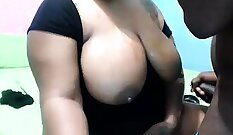 BIG BOOTY PAWG FUCKED BY BIG TITS CUMSHOT