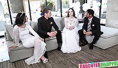 Blonde gang bang xxx Alyssas wedding was a wonderful solution