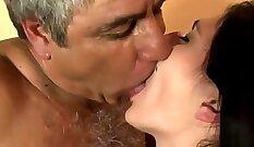 Big tits latin brit babe shoved deeply balls deep and load