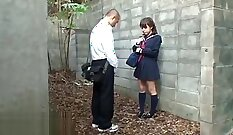 Big shape japanese hot babe fucked outdoors by her lovers nicer boyfriend