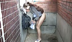 Casino girl pee on chick from Russia