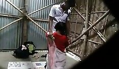 Beautiful school student learns strength from her teacher