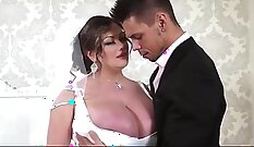 Big tits milf fucked on wedding night