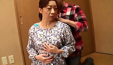Asian Grandma Having Sex On The Floor