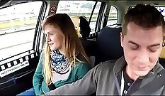 Athletic petite taxi driver cunt banged