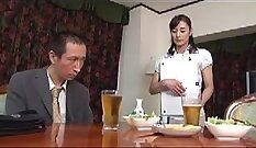 Costumed porn super-fat dick fucks mature secretary in front of husband