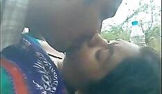 Cute Desi slut get banged outdoors by neighbor
