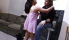 Chinese chick sucking my cock like a real whore