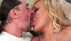Chairming with Blonde Mature AxaCorp