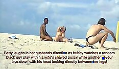 Black wife picked up in public by friend and her two hard cocks