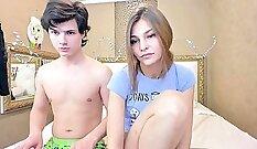 Blonde teen nude hot girl flashing on webcam,