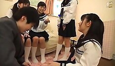 Asian schoolgirl Thay Luria knows what way to play with massive cock