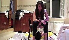 Cam No Sound: Amateur Ecchi Fucked Over A Shower