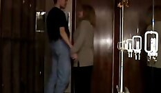 beautiful lady begins a passionate swing session with her prostate