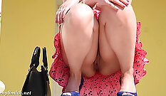 Buxom dark haired ladyMichelle rides staff hot dick in bookstore
