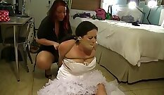 Cumfart and spunk on married wife Felony bound gagged and tied