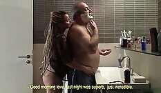 Babes Pretty Lady Fucked by Fat Daddy