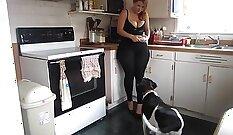 Amateur Girl Takes On Big Latex Homemade