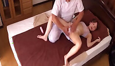 Amateur wife gets a hot massage with another woman at home