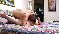 Chesty Granny - Teen Sucks And Fucks