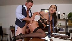 Beautiful mom Holly gets fucked by boss