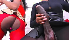 check out how this ebony chick fuck a big cock