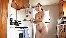 Amateur housewife gets her hairy pussy fucked