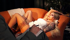 Babe with huge tits squirts with a toy - Lust In Bondage