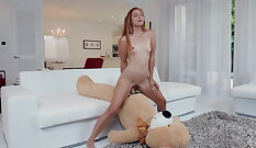 Blonde teen girl Ami aenuit fuck from behind